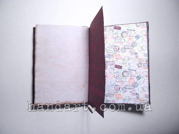 Схема действий - задний форзац блокнота и листы
