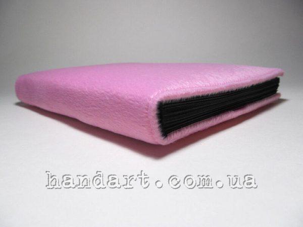 Розовый пушистик - корешок блокнота сбоку