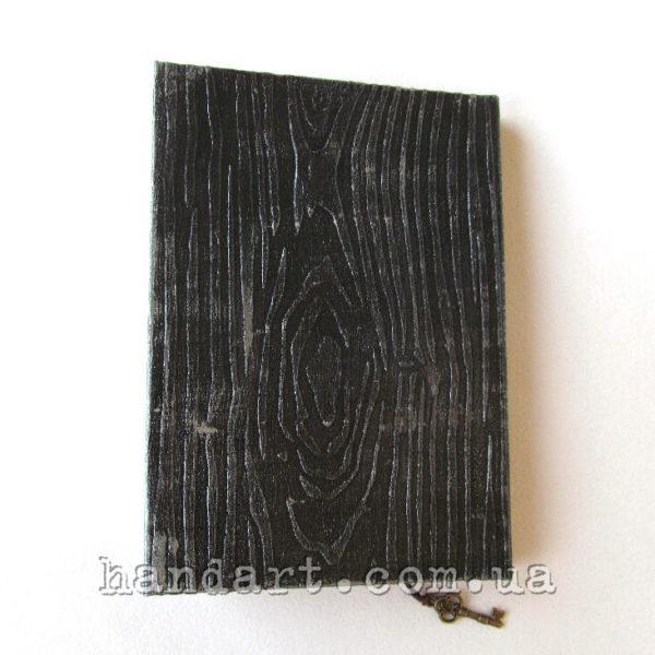 "Блокнот ""Черное серебро"" задняя обложка под дерево"