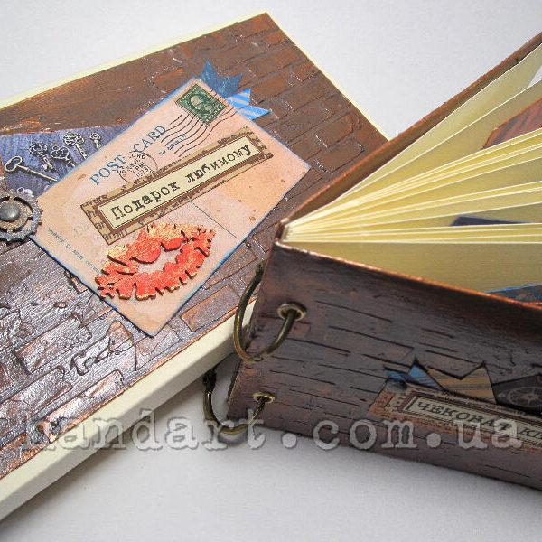 """Чековая книжка желаний """"Поцелуй у стены"""" подарочная коробочка"""