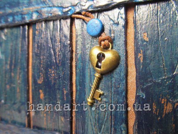 "Блокнот ""Забор синий"" ключик с секретом внутри"