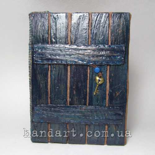 "Блокнот ""Забор синий"" обложка передняя"