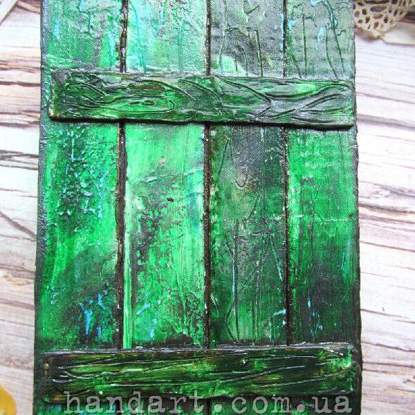 """Блокнот """"Забор зеленый"""" обложка задняя"""